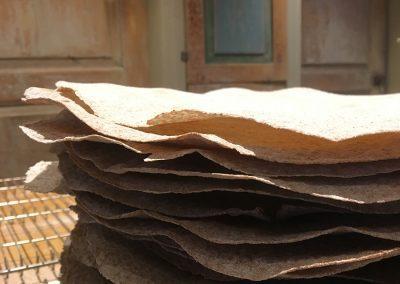 Bilde av en stabel med flatbrød